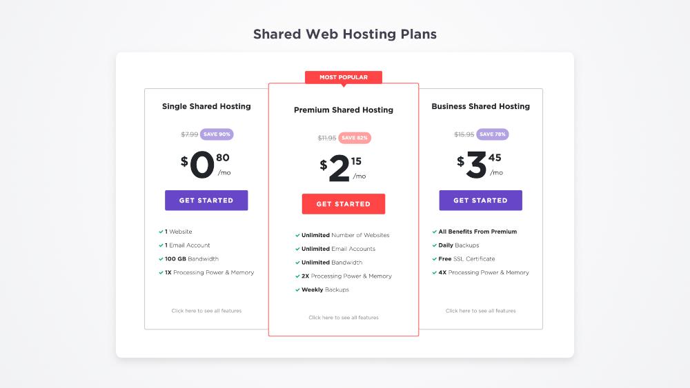Planes y precios de Hostinger para WordPress
