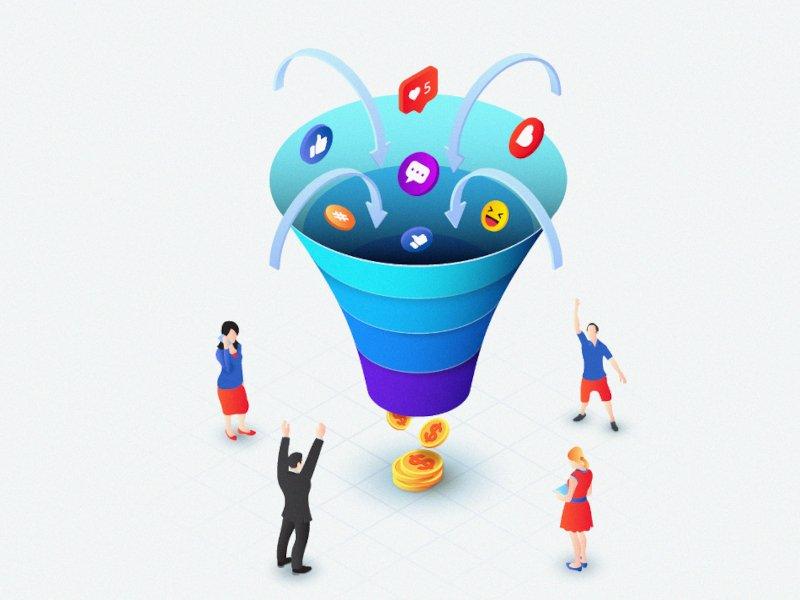 Cómo atraer clientes potenciales: funnel de ventas