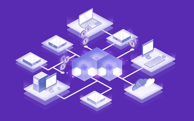 Ilustración de computadores conectados entre sí