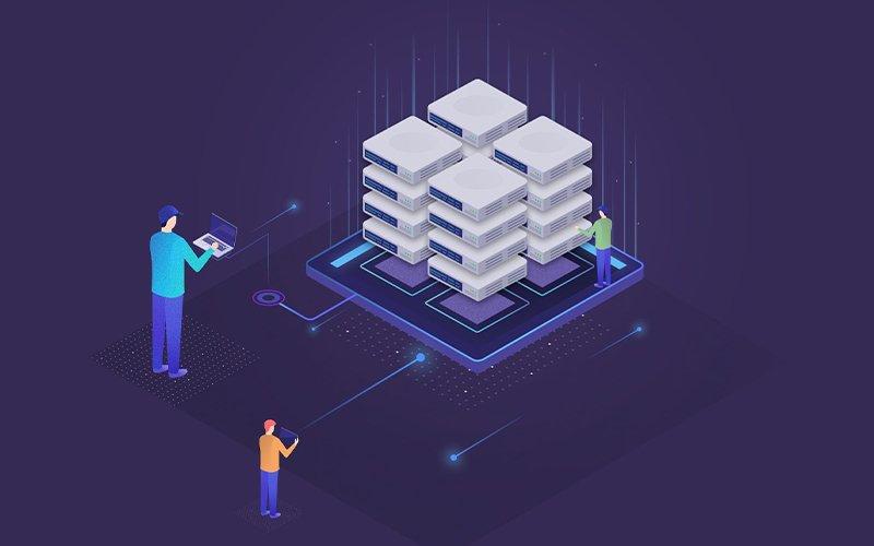 Ilustración de servidores privados (VPS)