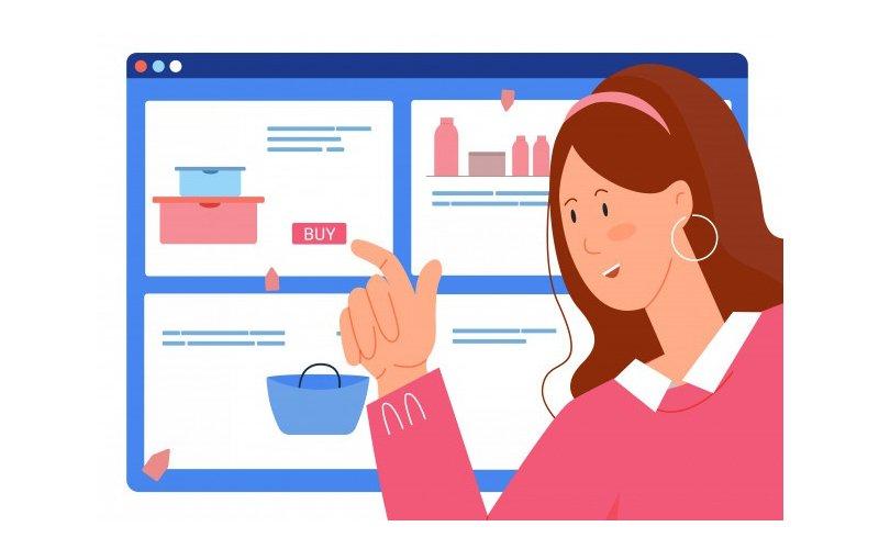 Una mujer decidiéndose a comprar por internet