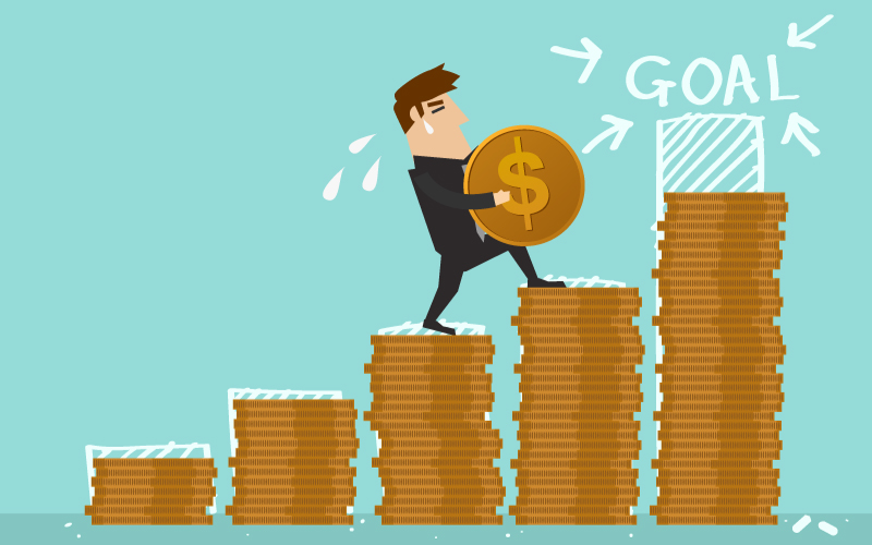 Ilustración sobre inversión de dinero