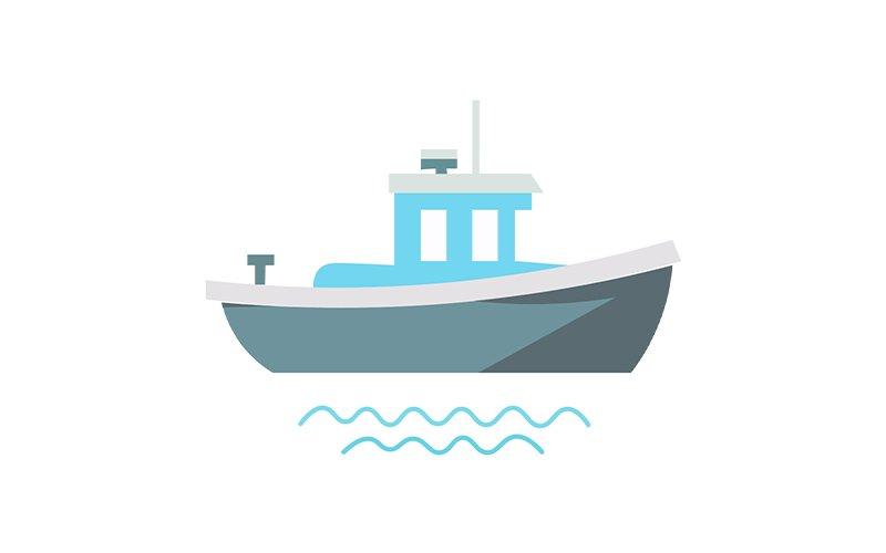 Un barco navegando